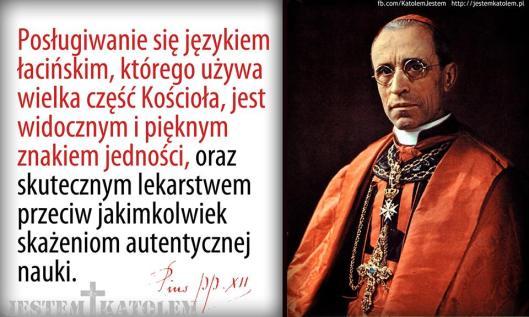 Pius XII o łacinie